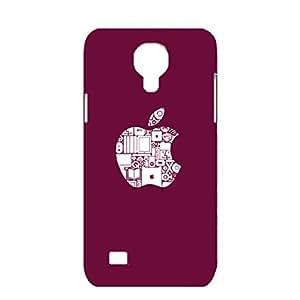 for Samsung Galaxy S4 Mini 3D phone case apple logo exquisite design protective case luxury logo