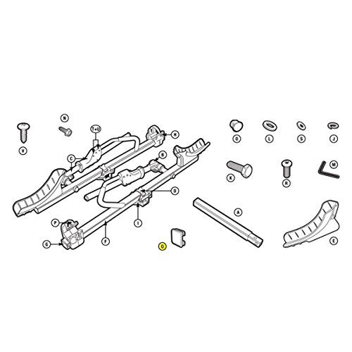 Thule Hitch Rack Replacement End Cap 2X2 T2 BLK - 8537017