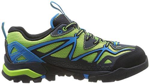 Merrell Capra Sport, Scarpe da Escursionismo Uomo Mehrfarbig (Black/Lime Green)