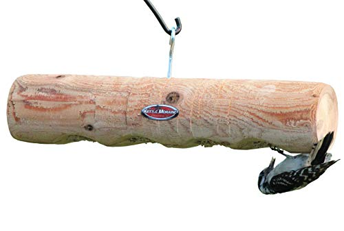 Kettle Moraine Cedar Upside Down Clinger Suet Plug Log Feeder
