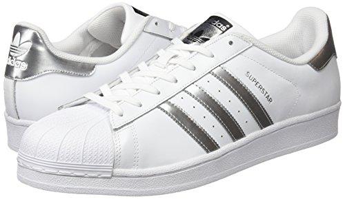 Baskets Originals core Adulte Black Adidas Blanc Superstar Mixte Metallic White silver ftwr ETwqqdgx