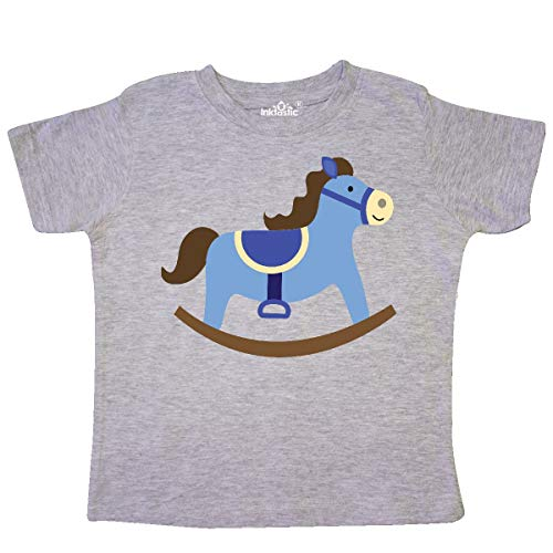 inktastic Rocking Horse Baby Boy Toddler T-Shirt 5/6 Heather Grey