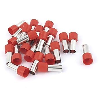 uxcell Draht Crimp Terminals Isolierte Hülse Tube rot E25–16 4 AWG ...