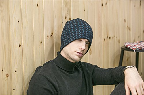 BaronHong Para Skull Hombres Beanie Cap Diario Knit Unisex Mujeres Azul Sombrero S0Swaqr7
