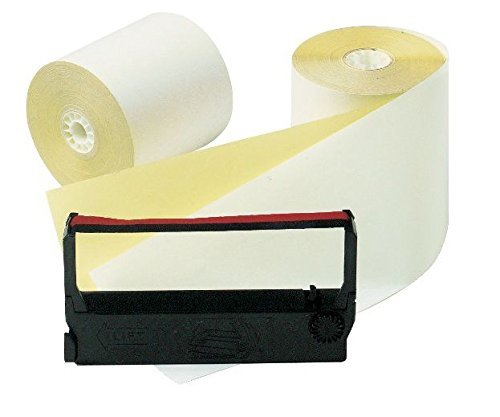 OfficeMax Verifone Rolls White/Canary kit, 12 Pack