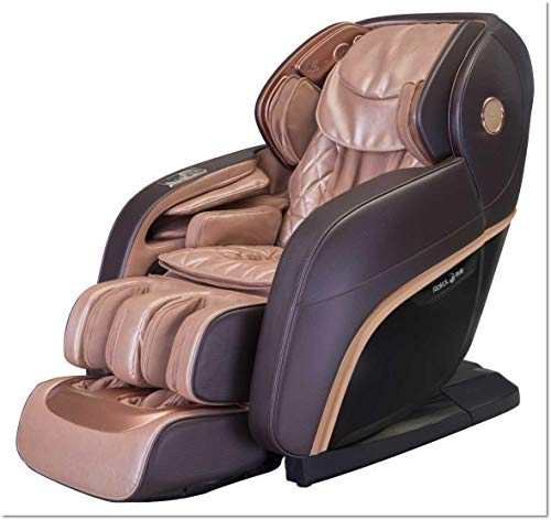 Relife New Luxury Vintage 4D Plus Intelligent Full Body Massage Chair – Intelligent Massage Chair -First Voice Control Massage Chair – New Launched – Rose Gold & Brown