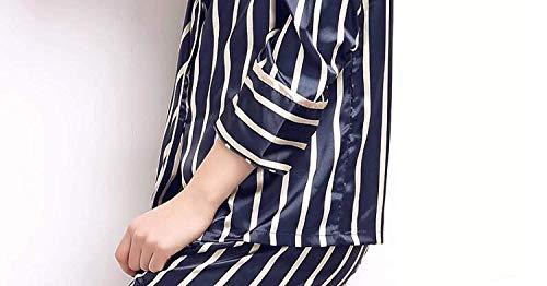 Hogar Un Clásico El Rayas Ropa Pijama Moda Mujer Conjunto Primavera Manga Solo Verticales Marca Largo Pecho Azul Albornoz Otoño Simplemente Para Elegantes De Pijamas Mode Pantalones Camisones xa1T7w7nqX