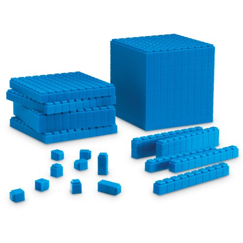 Learning Resources LER6356 Interlocking Base Ten Starter Set (Cubes Place Value)