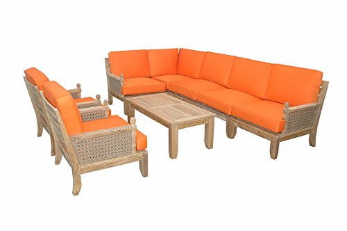 Anderson Teak Set (Anderson Teak Set-74 6 Piece Luxe Modular Deep Seating Teak Outdoor)