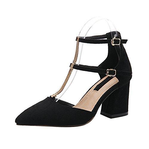 1to9mmsg00040 - Sandales Compensées Pour Femmes, Noir (noir), 35 Eu