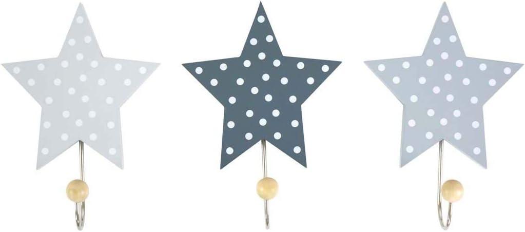 Multi-Colour Jabadabado R16016 Hooks Star Grey