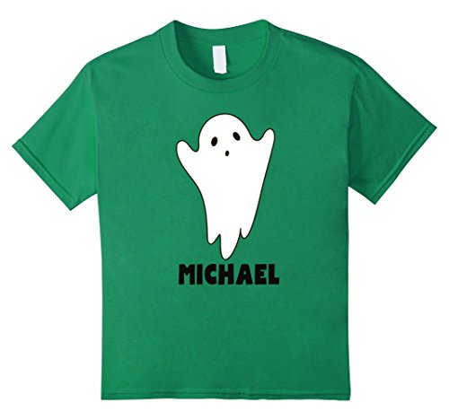 Kids Halloween Ghost with a Name Costume TShirt for Michael 12 Kelly (Michael And Kelly Halloween Costumes)