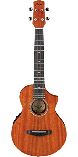 Ibanez Electric String Basses - Ibanez, 4-String Ukulele, Right Handed, Open Pore Natural (UEWT5E)