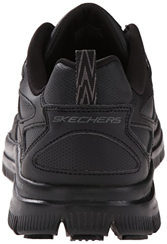 Skechers Sport Mens Flex Vantaggio Anche Sneaker Forza Nera