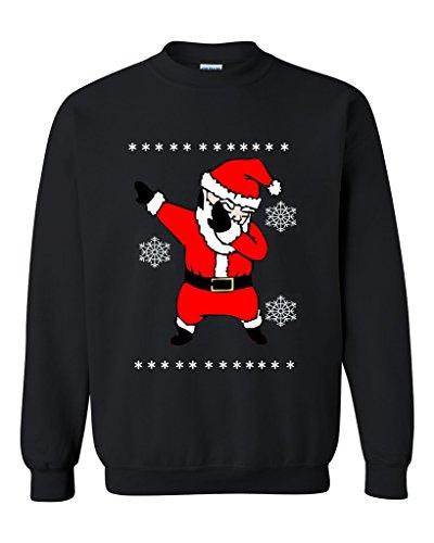 Ugly Christmas Sweater Dabbing Santa Unisex Crewneck Sweatshirt Christmas Gift Xmas Shirt