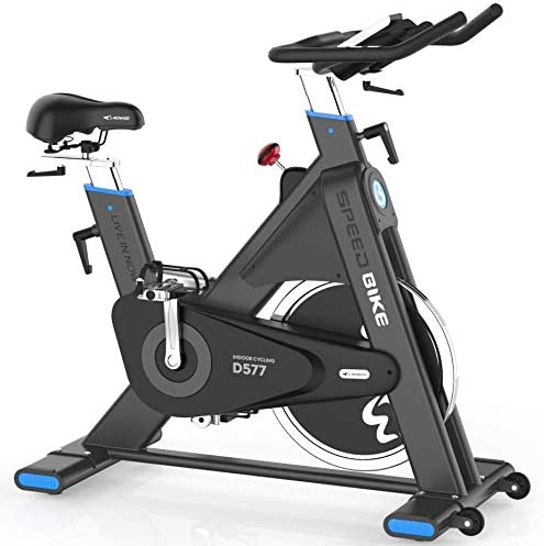 L NOW Indoor Cycling Bike Indoor Exercise Bike Stationary- Belt Drive with 44LBS Stable Flywheel,Heart Rate and LCD Monitor Commercial Standard for Home Cardio LD577