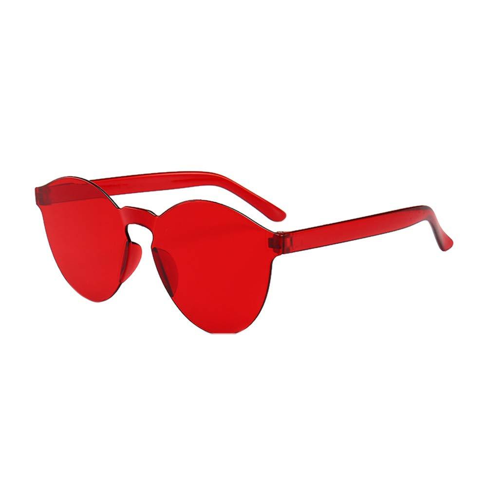 ASTV Women Men Fashion Clear Retro Sunglasses Outdoor Rimless Eyewear Glasses