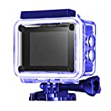 Mpow Waterproof Sport Action Camera, with 170 Degree Wide-Angle Lens Full HD 1080p, Suitable for Cycling, Rock Climbing, Skiing, Diving and Other Outdoor Activities (Blue)