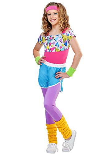 Girl's Work It Out 80s Costume Small ()