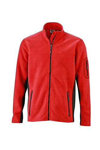 Workwear Resistente black Red Men's In Uomo Giacca Fleece Pile Misto Jacket Materiale qnt0wHRF