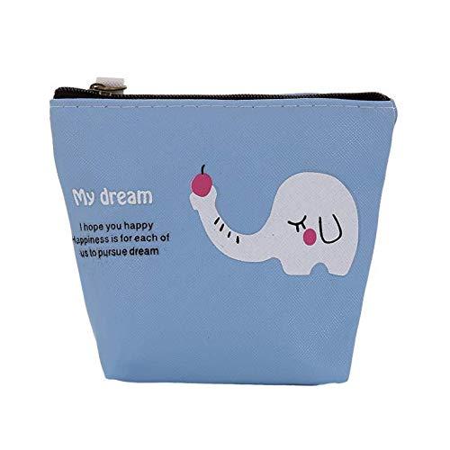 Mini Faux Leather Cartoon Cat Fruit Coin Purse Key Headphone Storage Bag Purse - SoundsBeauty