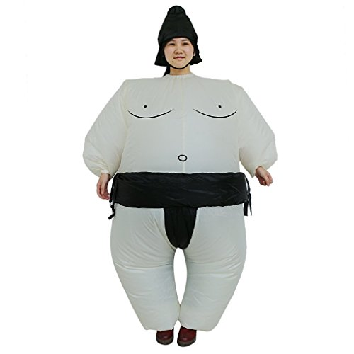 Dumonsly Inflatable Sumo Wrestler Wrestling Costume Suit Outfit for Christmas (Adult) (Mens Inflatable Sumo Costume)