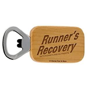 Gone For a Run Runners Recovery Maple Bottle Opener