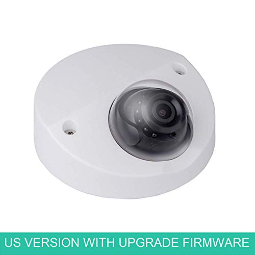 LINOVISION Wedge Camera OEM IPC-HDBW4431F-AS-S2 4MP IR Mini Dome Camera Built-in Mic 2.8mm Lens Hockey Puck Network Camera US Version Upgradable Firmware H.265 Plug-n-Play with Dahua NVR