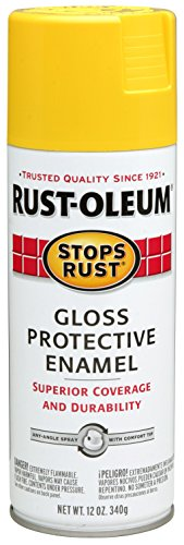 Yellow Enamel Finish (Rust-Oleum 7747830 Stops Rust Spray Paint, 12-Ounce, Gloss Yellow)