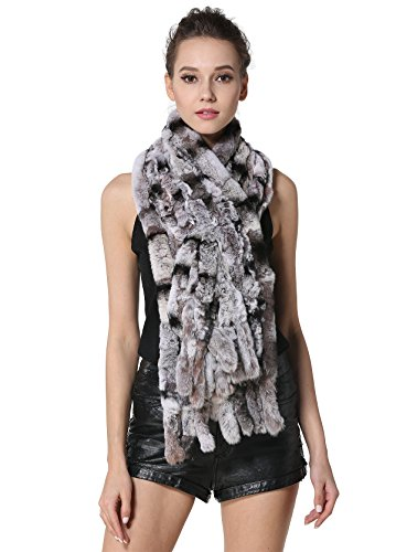 Used, MEEFUR Winter Real Fur Large Scarves Rex Rabbit Fur for sale  Delivered anywhere in USA