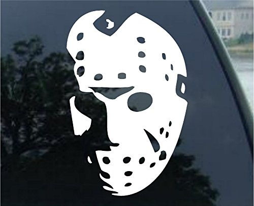 Crawford Graphix Jason Hockey Mask - Friday The 13th, Car Truck Vinyl Decal Sticker (7