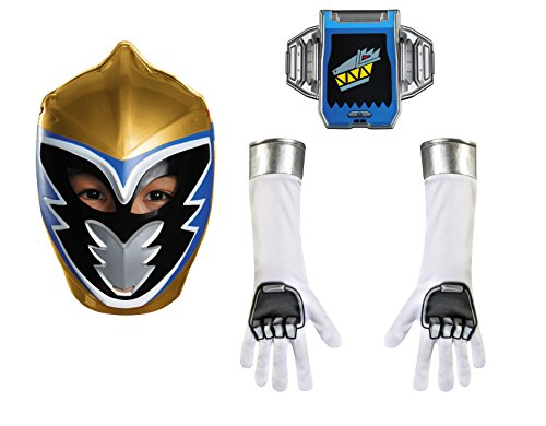 Disguise Gold Ranger Dino Charge Child Accessory Kit Costume (Power Rangers Gold Ranger Costume)