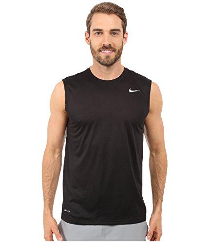 Nike Men's Legend 2.0 Sleeveless Tee, Black/Matte Silver, XL