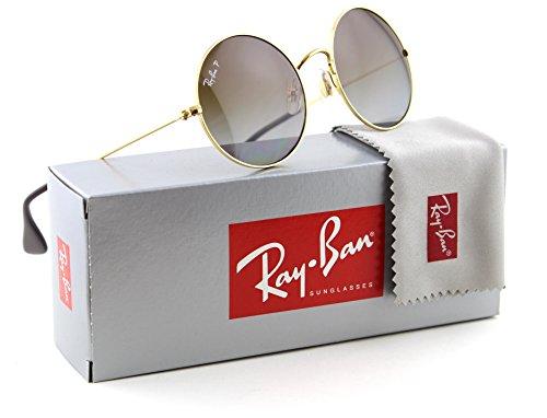 Ray-Ban RB3592 JA-JO Polarized Metal Round Gradient Sunglasses 001/T5 - - Ray Ban Round Metal 50mm