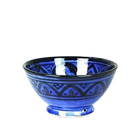 Simandra Orientalische marokkanische Keramikschale Keramik Mü sli Obst Salat Schale Schü ssel Deko mittel Color Blau