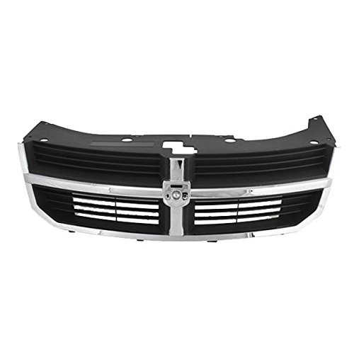 Koolzap For 08 09 10 Avenger Front Grill Grille Assembly Black Insert Chrome Shell YW351XXAB