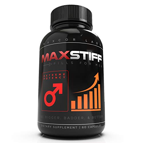 MaxStiff Pill for Men – Performance and Testosterone Booster, Bigger Badder, Better – 60 Capsules