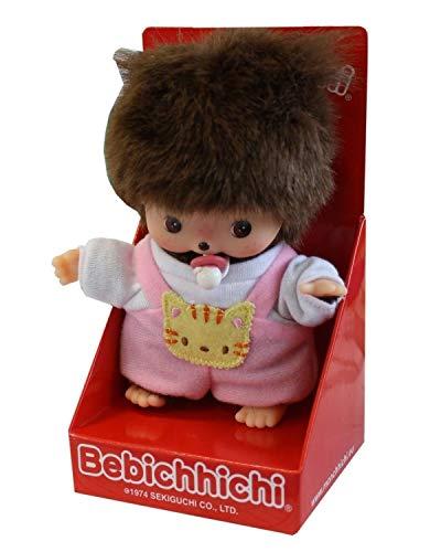 Big Game Toys~BEBICHHICHI Baby with BGT Storage Bag Girl Kitty cat Sekiguchi Monchhichi Monchichi Monkey Doll