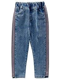 Kidscool Space Girls Loose Legs Elastic Waist Fashion Jeans