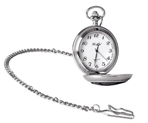 Woodford Men's Quartz Pocket Watch with White Dial Analogue Display 1938