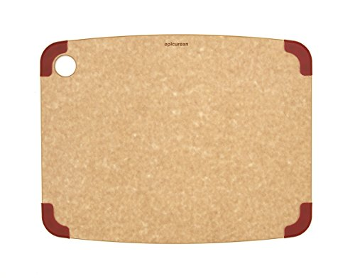 (Epicurean Non-Slip Series Cutting Board, 14.5-Inch by 11.25-Inch, Natural/Red)