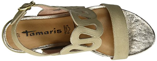Tamaris Ladies 28378 Sandali Aperti Beige (shell 425)