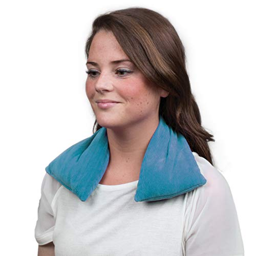 Bed Buddy Aromatherapy Heating Pad for Neck & Shoulders - Microwavable Heat Wrap, Blue, Lavender & Mint Scent