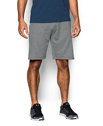 Under Armour Men's Tech Terry Shorts, True Gray Heather (025)/Silver, XXX-Large by Under Armour (Image #2)