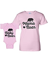 3af5a9573fd6 Mama Bear Matching Baby Romper and Mother Fashion Tee