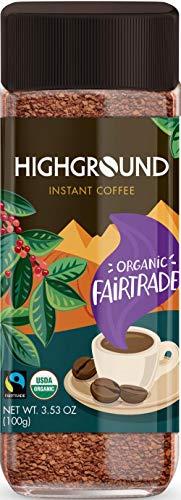Highground Organic Instant Coffee 2 Jars 3.53oz/100g Each by Highground