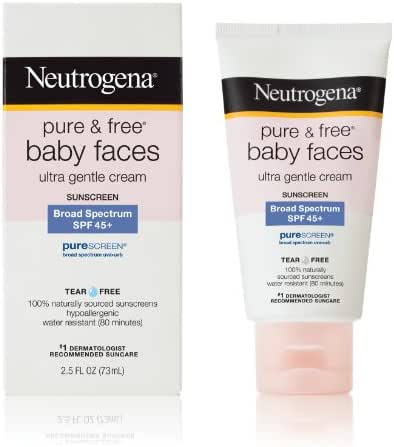 Neutrogena Pure and Free Baby Faces Sunscreen, SPF 45+, 2.5 Ounce