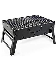 Ikaif Grill, bärbar mini träkol BBQ grill, rostfritt stål vikbar, perfekt för matlagning utomhus camping vandring picknick BBQ