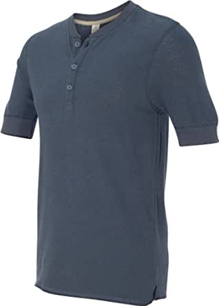 Alternative Mens Basic Henley Shirt X-Large Navy