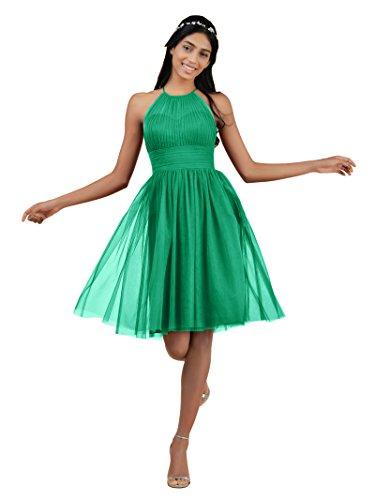 Da Sera Di Del Partito Corto Cerimonia Vestito La Del Cocktail Smeraldo Nuziale Abito Verde Per D'onore Alicepub Tulle In Damigella 8na75Czqw